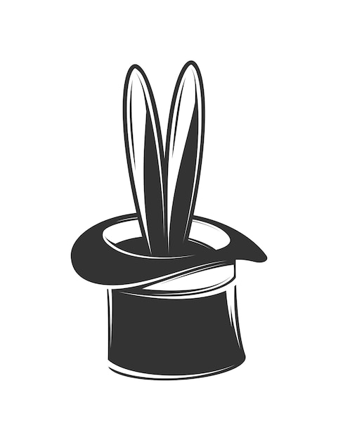 Magician hat illustration Premium Vector