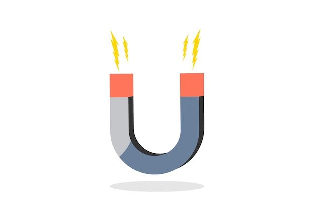 Magnet symbol logo Vector   Premium Download
