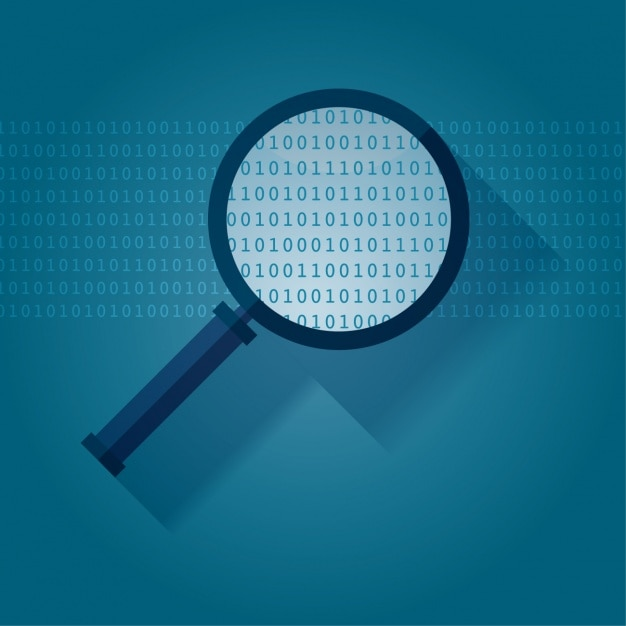 Magnifying glass background design Free Vector