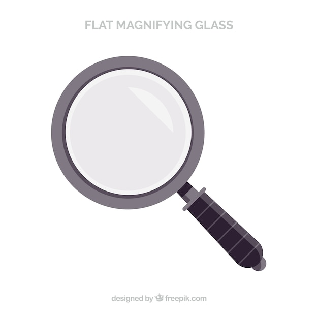 Magnifying glass in flat style Free Vector
