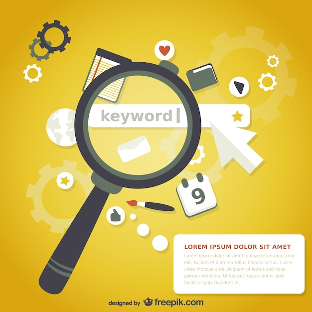 Magnifying Glass Keyword Search Vector