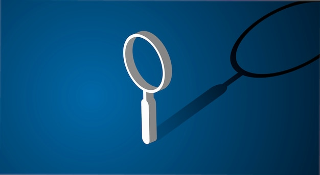 Magnifying glass searching icon Free Vector