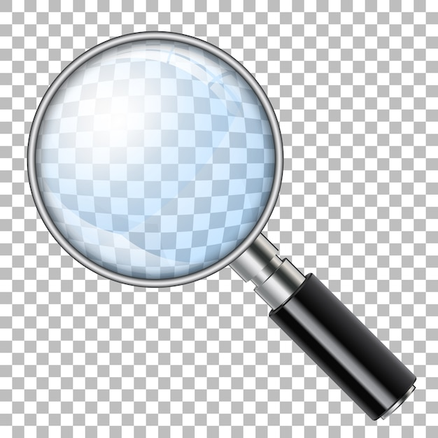 Magnifying glass Premium Vector