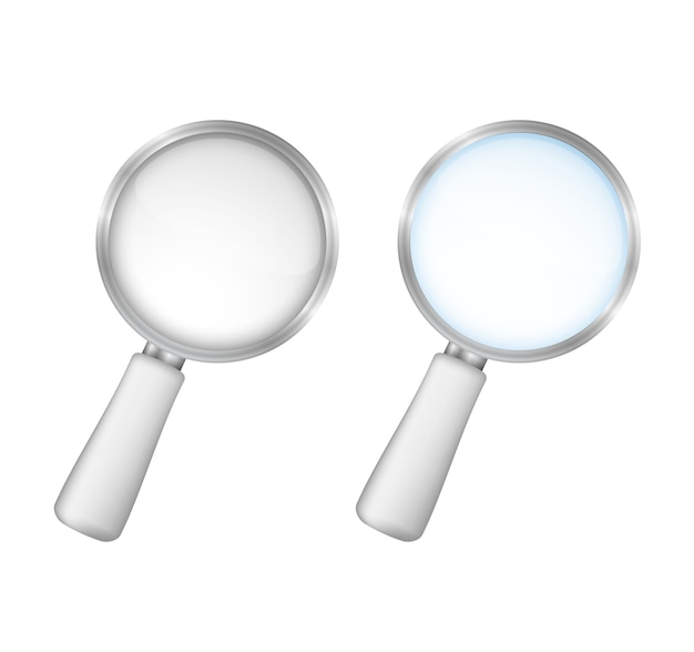 Magnifying glasses on white background, vector eps10 illustration Premium Vector