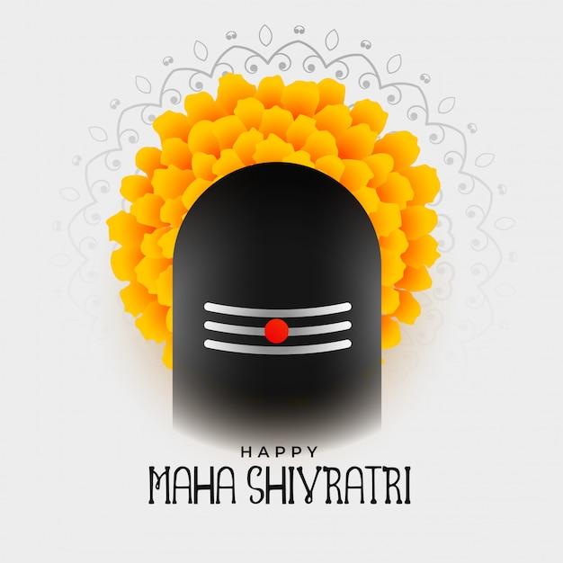 Maha shivratri festival background design Free Vector