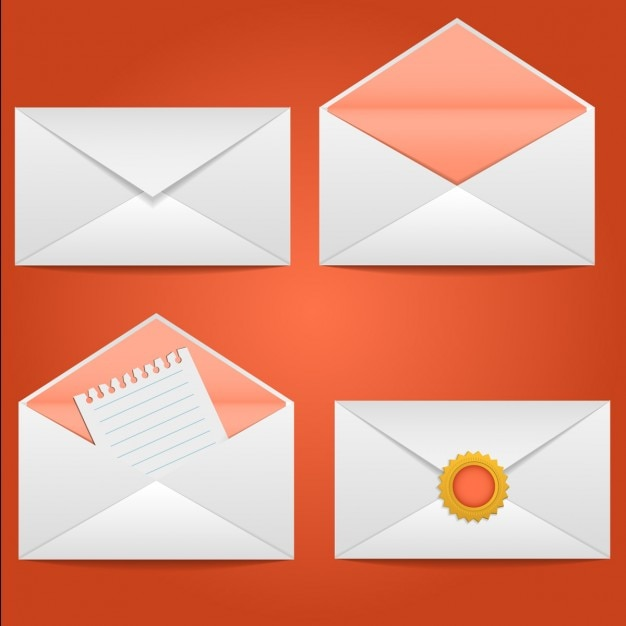 Mail envelopes Free Vector