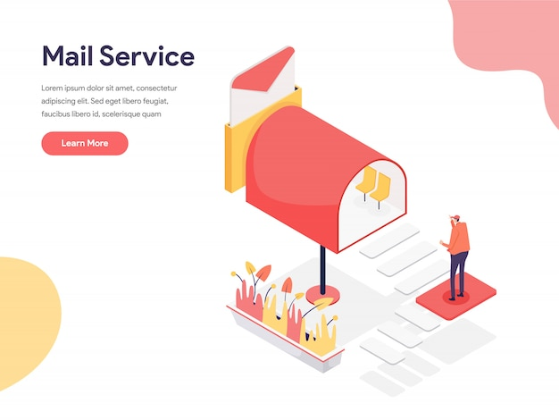 Mail Service Illustration Vector Premium Download