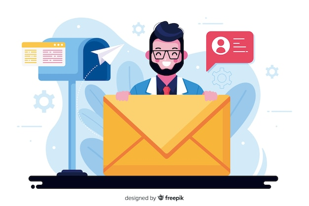 Mailbox concept illustration Free Vector