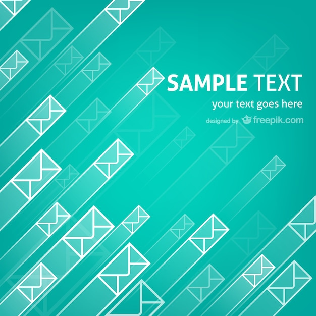 Mails and messages template Free Vector