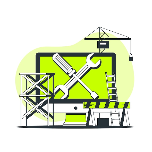 Maintenance concept illustration Free Vector