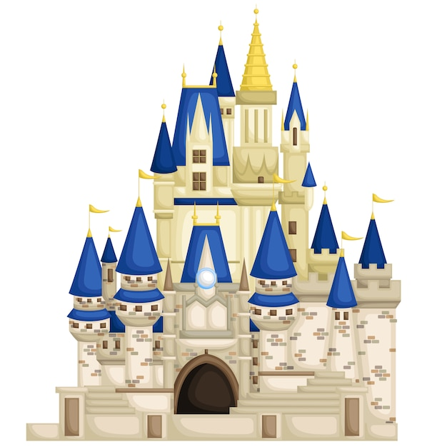 Majestic castle Premium Vector