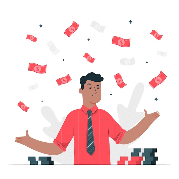 Make it rain illustration concept Free Vector