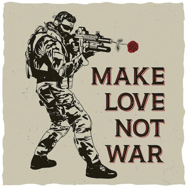 戦争ではなく恋をするイラスト 無料ベクター