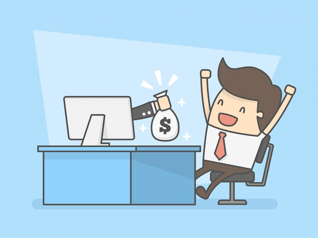 Make money online  Vector | Premium Download
