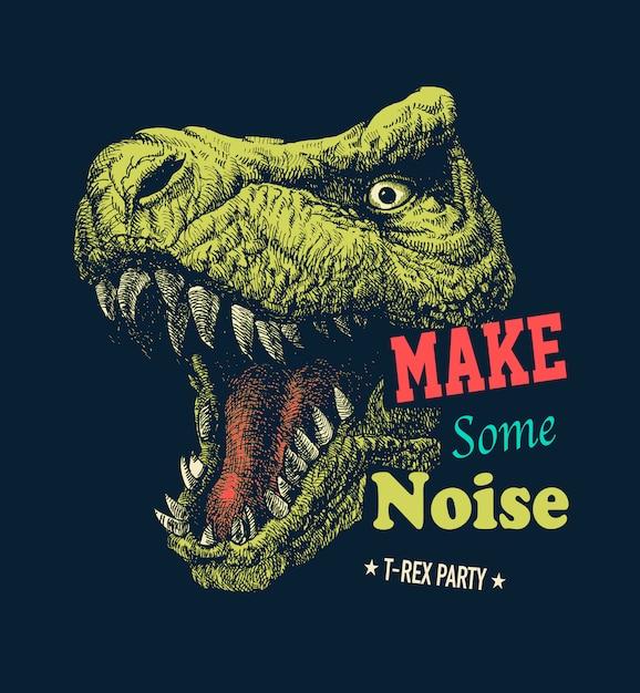 Make some noise slogan graphic Premium Vector