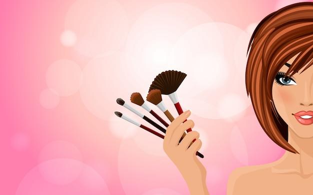 Make up background Premium Vector