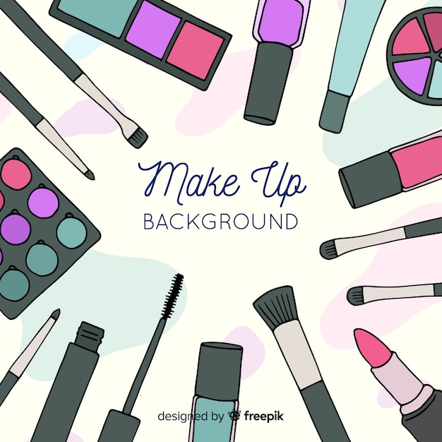 Make up background Free Vector