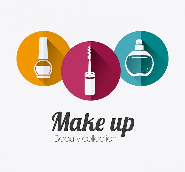 Make up design. Premium Vector