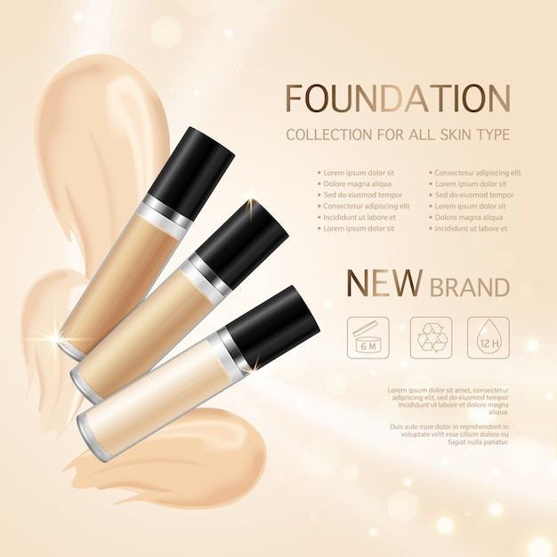 Make up foundation Free Vector