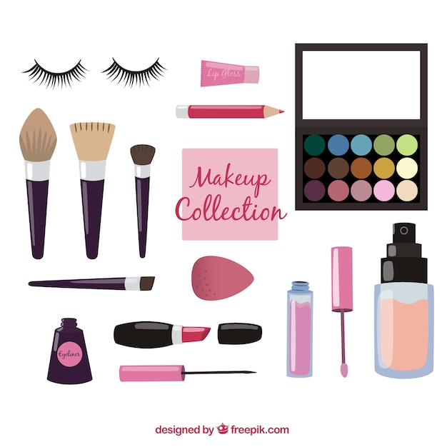 Make up utensils equipment Vector Free Download
