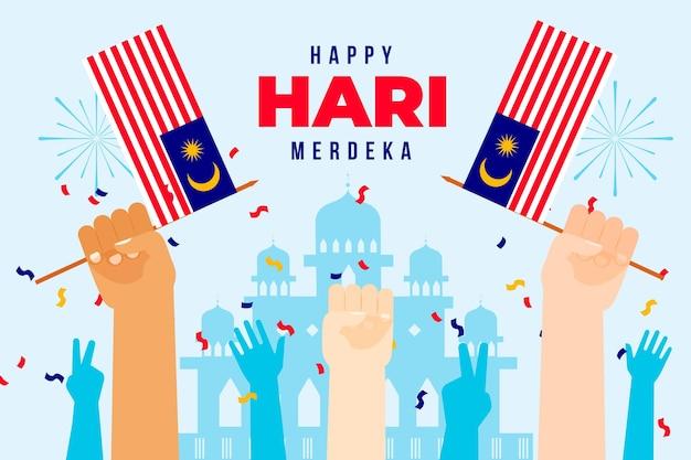 Malaysia day concept Free Vector
