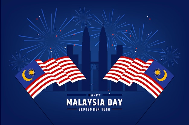Malaysia day concept Free Vector