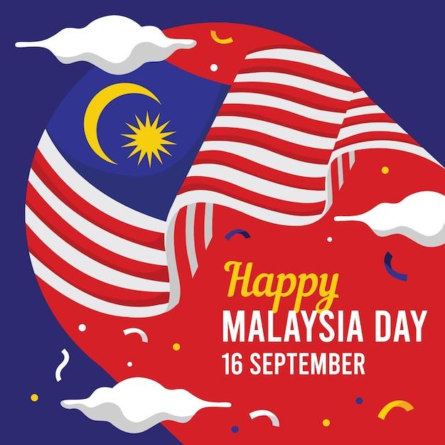 Concetto di giorno della malesia Vettore gratuito