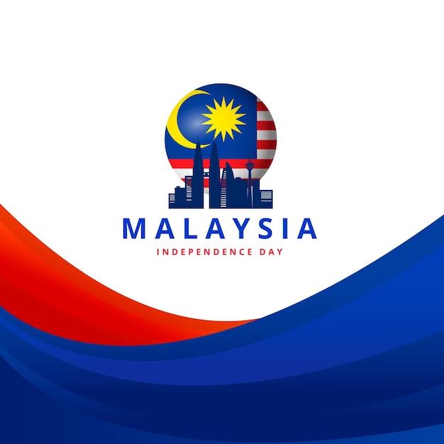 Evento del giorno della malesia Vettore gratuito
