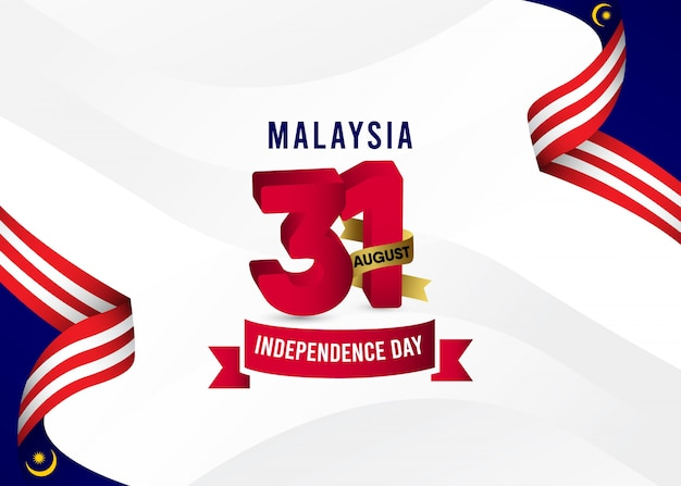 Malaysia independence day background Premium Vector