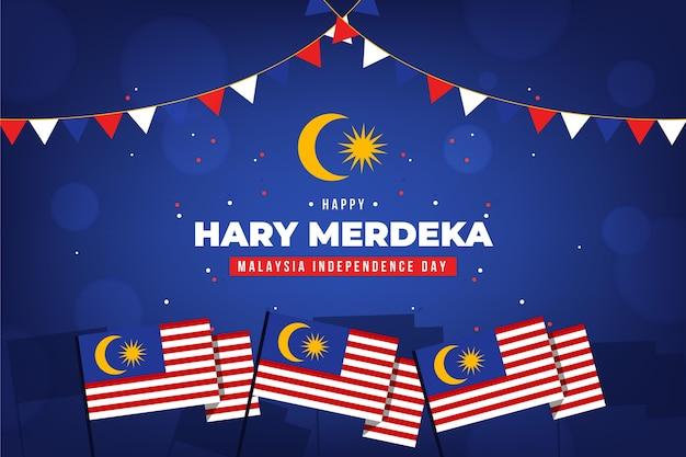 Concetto di festa dell'indipendenza della malesia Vettore gratuito