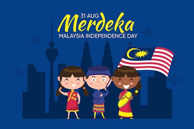 マレーシア独立記念日のコンセプト Premiumベクター