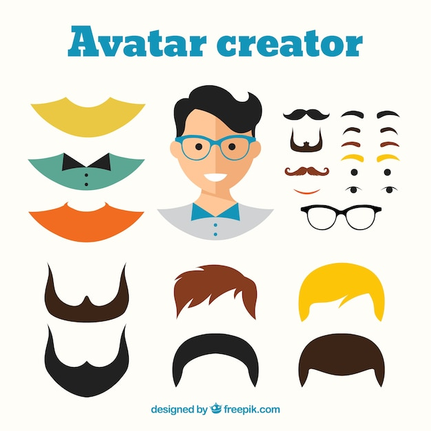 male avatar creator vector free download