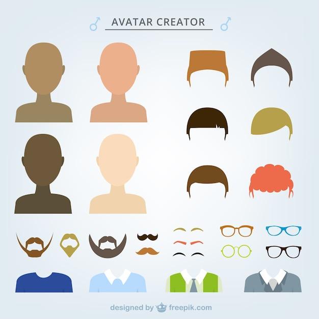 Male Avatar Creator Vector Free Download