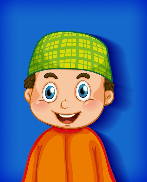 Free Vector Male Cartoon Character Colour Gradient Background