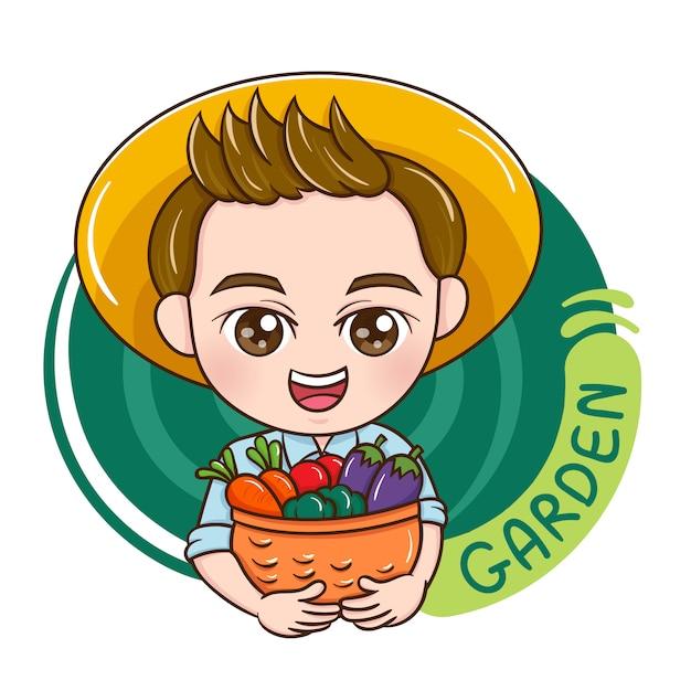 Male gardener Premium Vector