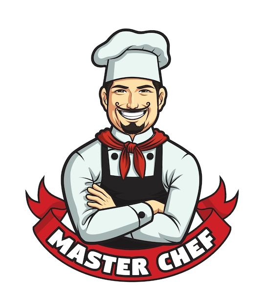 Male master chef Premium Vector