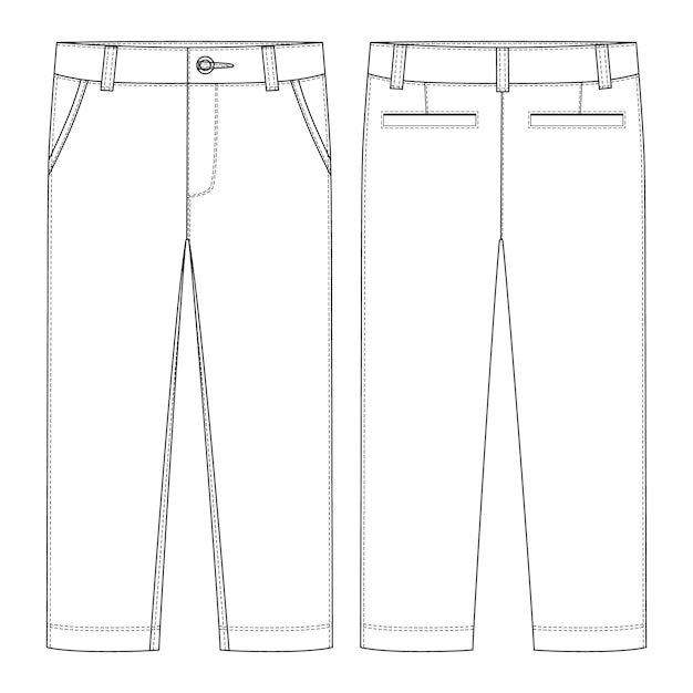 Male pants. Premium Vector