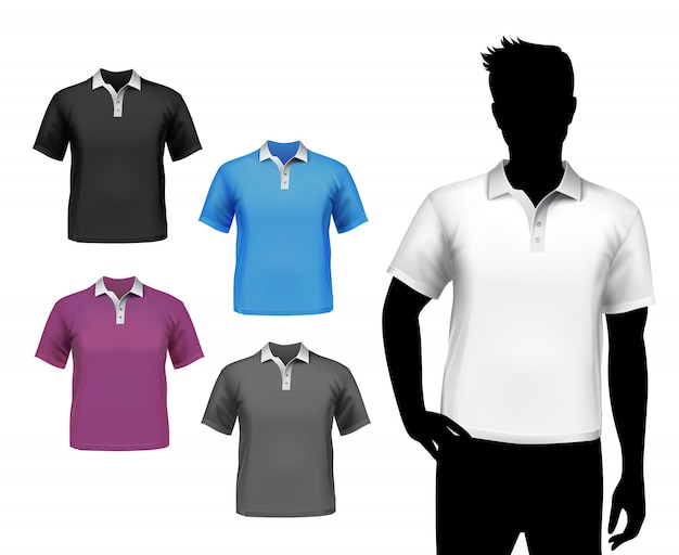 Male Shirts Mock Up Vector Free Download