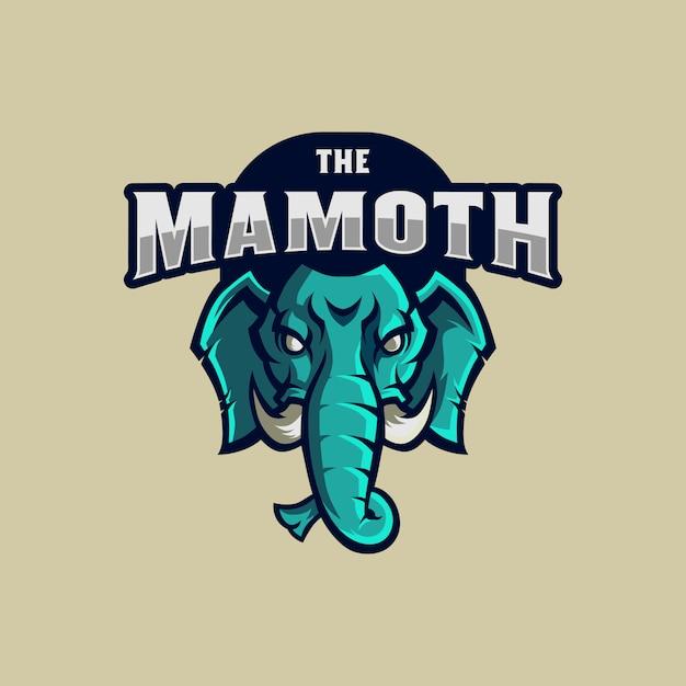 Mammoth logo mascot Premium Vector