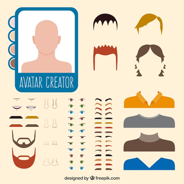 Man Avatar Creator Vector Free Download