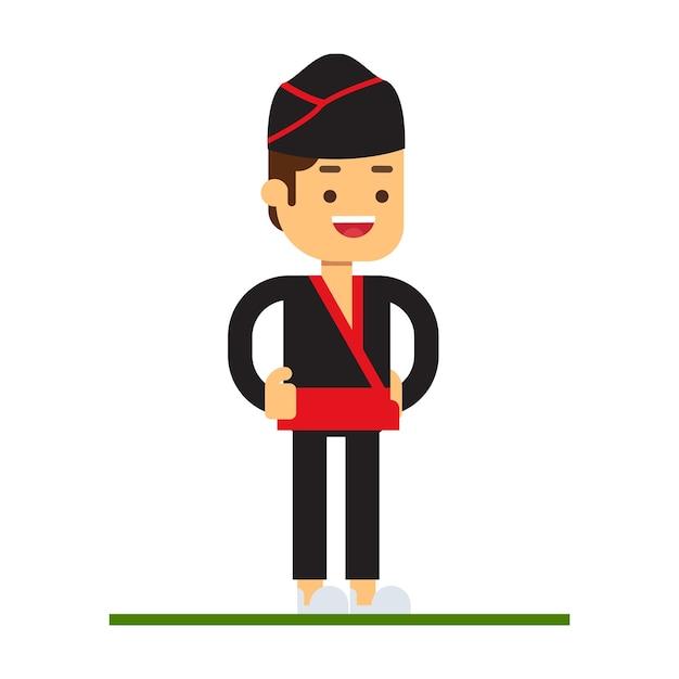 Man character avatar icon.dim sum Premium Vector