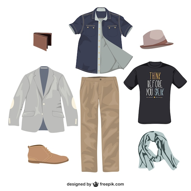 Man clothes vector Free Vector