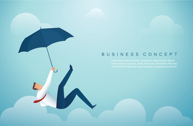 Man falling down from the sky Premium Vector