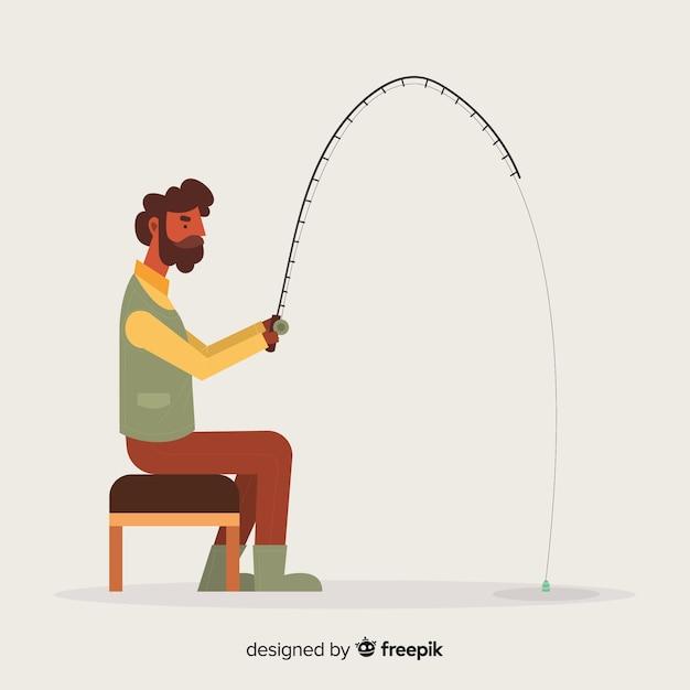 男釣りbackgronund 無料ベクター