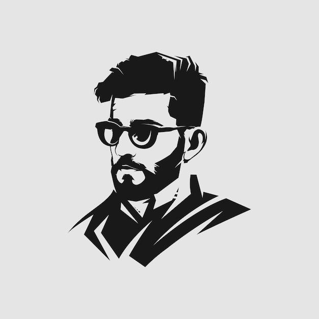 Man hair style mascot logo  for barbershop Premium Vector