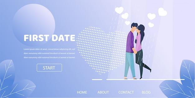 Man hold hand woman romantic night illustration Premium Vector