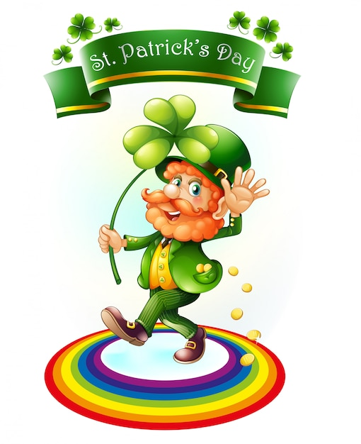 A man holding a plant for st.patrick's day Free Vector