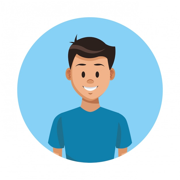Premium Vector Man Profile Cartoon