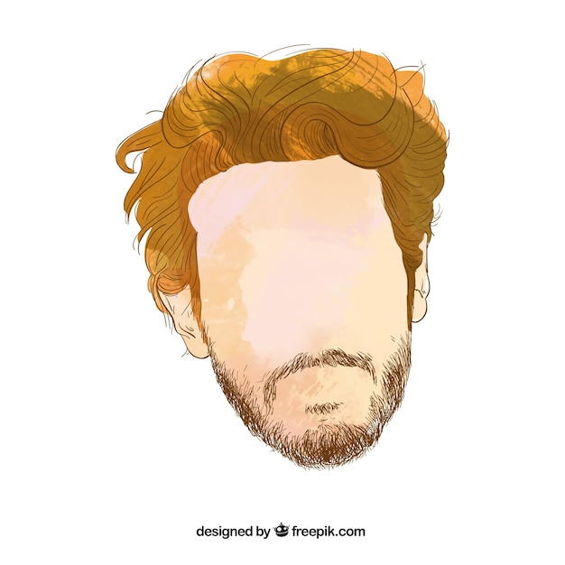 Mans Hair Style Vector Free Download