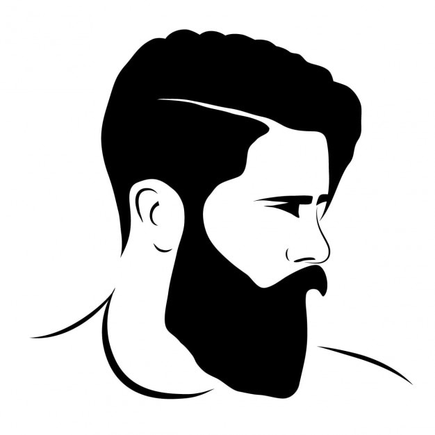 Man silhouette hipster style Free Vector